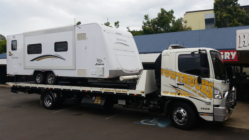 Gold Coast Tow Trucks with caravan