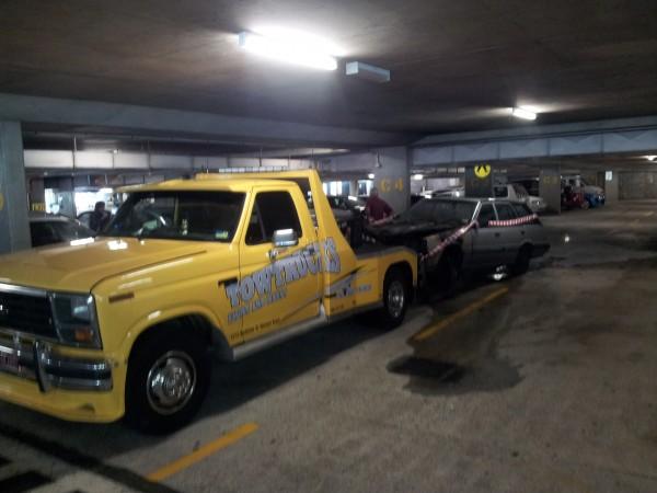 Tow Truc in underground carpark